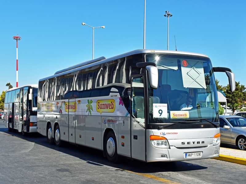 Busfahren in Chalkidiki
