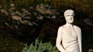 Aristoteles Statue in Chalkidiki